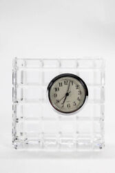 Waterford Clear Crystal Square Quartz Desk Top Mini Clock Home Decor LL19LL