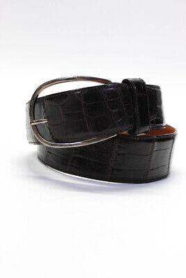 Ralph Lauren Unisex Genuine American Alligator Belt Brown Size Small