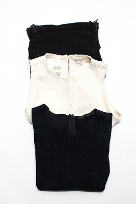 Zara Basic Zara Trafaluc Womens Denim Suede Blouse Size Extra Small Lot 3