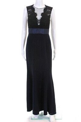 Theia Womens Deep Midnight Gown Dress Navy Blue Size 4 10898643