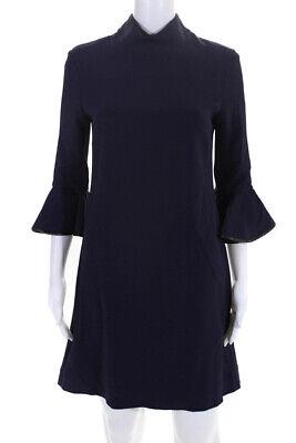 Amen Womens Zipper Back Long Sleeve Crew Neck Mini Dress Purple Size IT 42 Back Zipper Long Sleeve