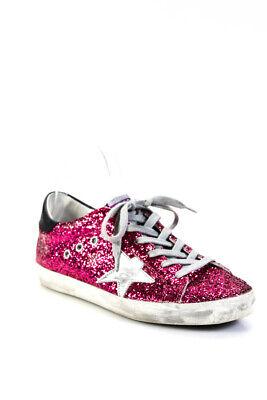 Golden Goose Deluxe Brand Womens Glitter Superstar Sneakers Pink Size 38 8