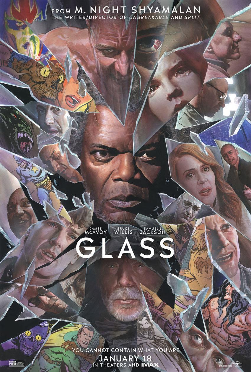 GLASS MOVIE POSTER 2 Sided ORIGINAL Version B 27x40 M. NIGHT SHYAMALAN