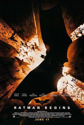 Batman Begins New Movie Poster - BATMAN BEGINS MOVIE POSTER 2 Sided ORIGINAL FINAL 27x40 CHRISTIAN BALE