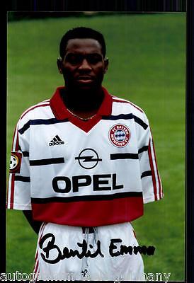 super AK Foto Emanuel Bentil Bayern München 98-99(3) Orig. Signiert