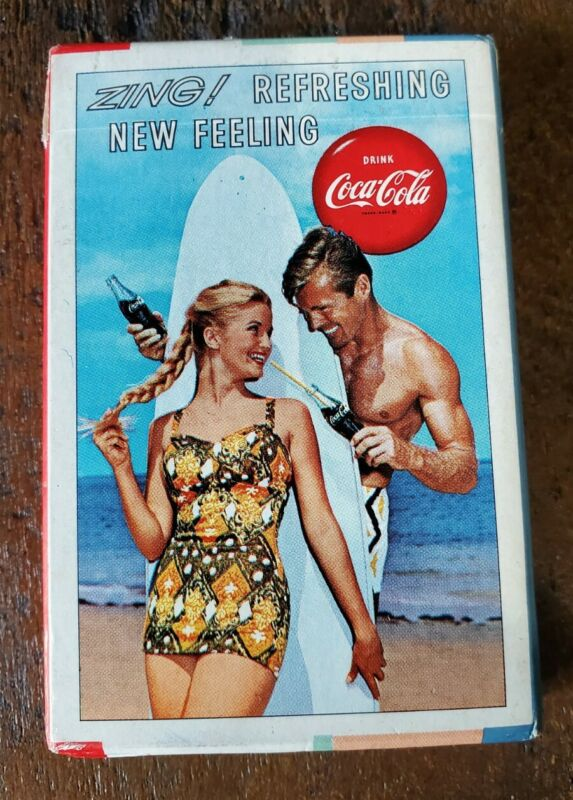 1960 Coca Cola ZING! Refreshing New Feeling Playing Cards Complete SEALED NEW