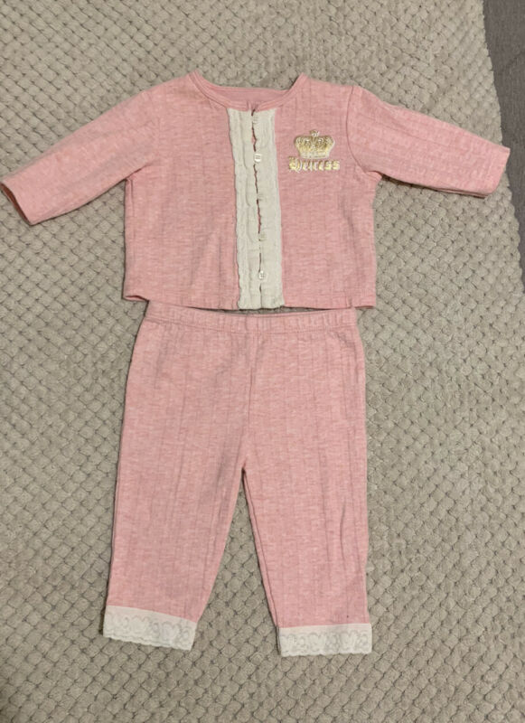Juciy Couture Baby Girl Outfit Pink 3-6 Month Vintage