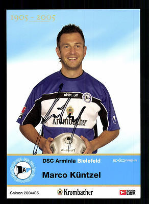 Marco Küntzel Autogrammkarte Arminia Bielefeld 2004-05 Original Sign+A 105245