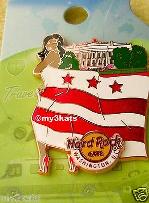 HARD ROCK CAFE WASHINGTON DC LANDMARK FLAG GIRL SERIES PIN 2015 LE300