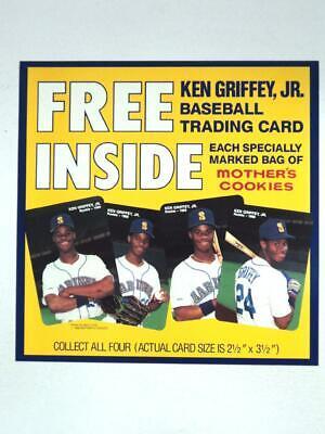 6c913584f5 1989 Ken Griffey Jr. Mothers Cookies Advertising Poster Display - FLASH SALE