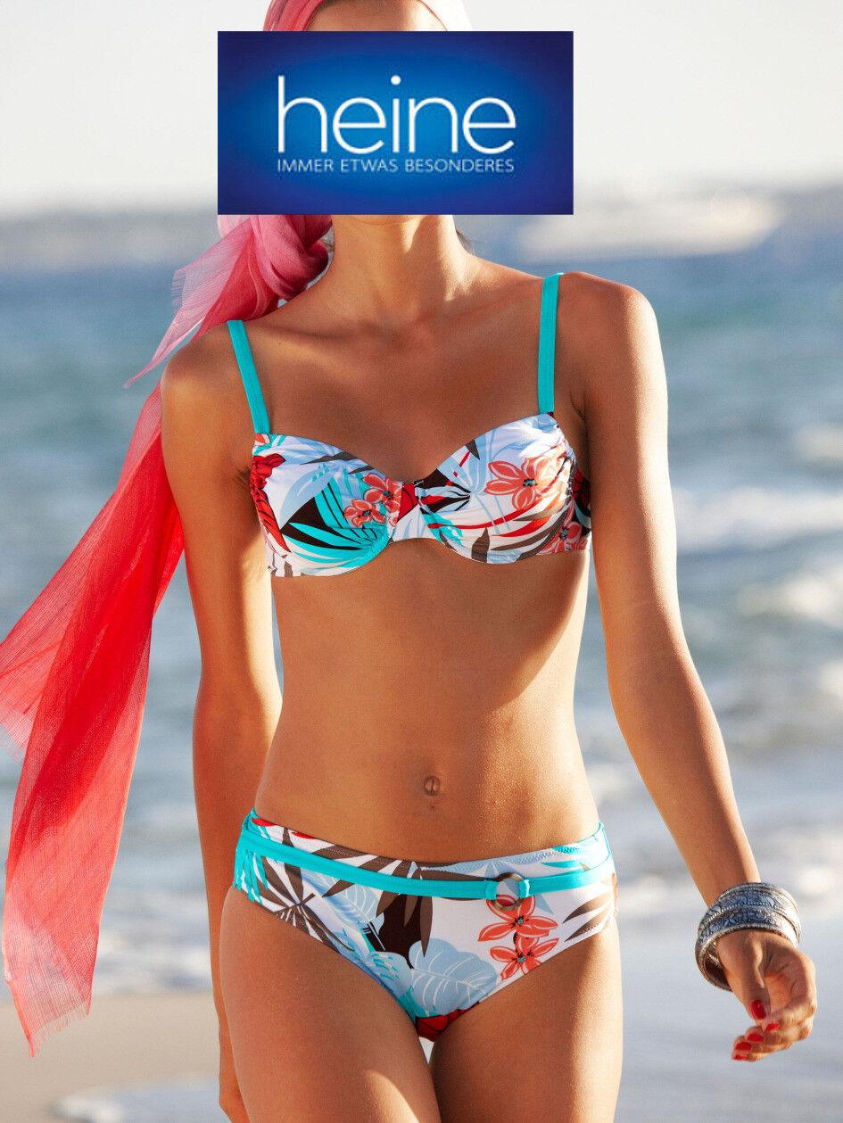 Cup B KP 59,90 € /%SALE/% NEU!! Heine Bunt Bügel-Bikini mit Zierring