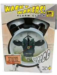 Wacky Wakers Alarm Clock Cow Mooing Sound Barnyard Farm Series NIP