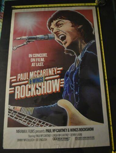 Paul McCartney and Wings Original 1980 Movie Poster 27x41