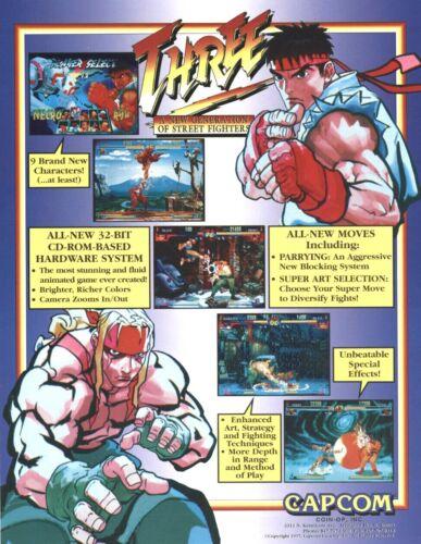 Capcom Street Fighter III New Generation Arcade FLYER Original NOS Video Game 97