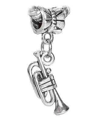 (Trumpet Music Musical Instrument Band Christmas Charm for European Bracelets)