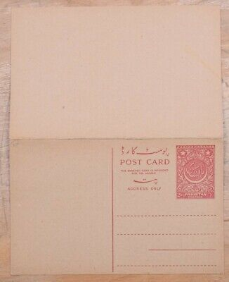 MayfairStamps Pakistan 2 Annas Mint Stationery Reply Card wwo79305