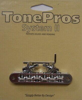 "TP6R-C TonePros Standard TOM Bridge (small posts, ""Roller"" saddles), Chrome"