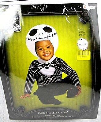 DISNEY CHILDRENS INFANTS JACK SKELLINGTON COSTUME SZ 12-18 MONTHS NEW  - Disney Jack Skellington Costume Kids