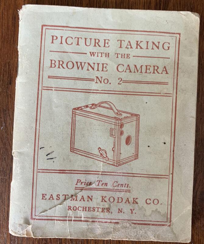Antique KODAK BROWNIE NO. 2 INSTRUCTION BOOK, 1910