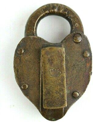 Antique Brass Keyless Lock A&W Co. Chicago BWW & Co. Railroad