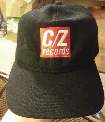 C/Z Records Snapback Truckers Hat - RARE - HTF - Circa 1990s - Black Red White