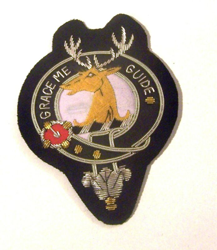 Royal Scottish Scotland Clan Forbes Crest Heraldry Family Reunion Name Patch COA