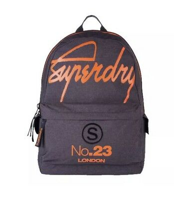SUPERDRY INTERNATIONAL Montana Backpack International Grey & Orange Brand New