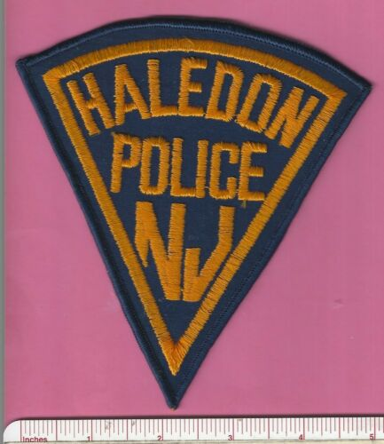 Haledon NJ State of New Jersey Law Enf. Police Shoulder Patch - Passaic County