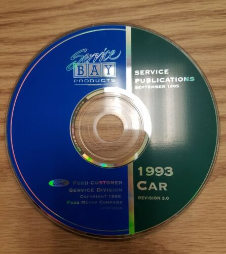 Service Bay Production Service Publications September 1995 1993 Car Revision 3.0