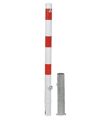 Absperrpfosten 60 mm Durchmesser, herausnehmbar, Pfosten Poller Wegsperre ()