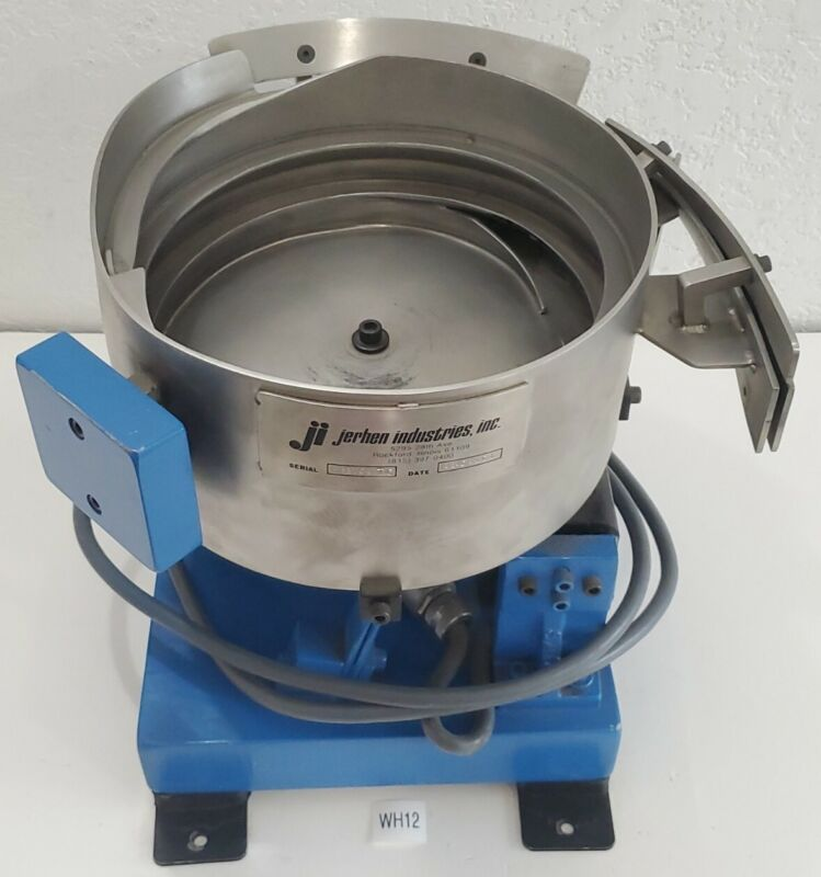 """*PREOWNED* Jerhen 10"""" Stainless Steel Vibratory Bowl Parts Feeder 120V +Warranty"""