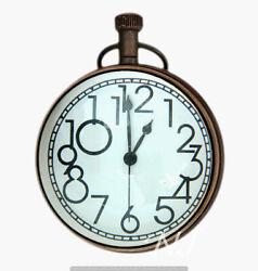 Antique Style Pocket Watch Marine Nautical Desk Clock Brass Made Table Decor