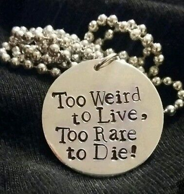 Panic at the disco inspired necklace- Too Weird to Live