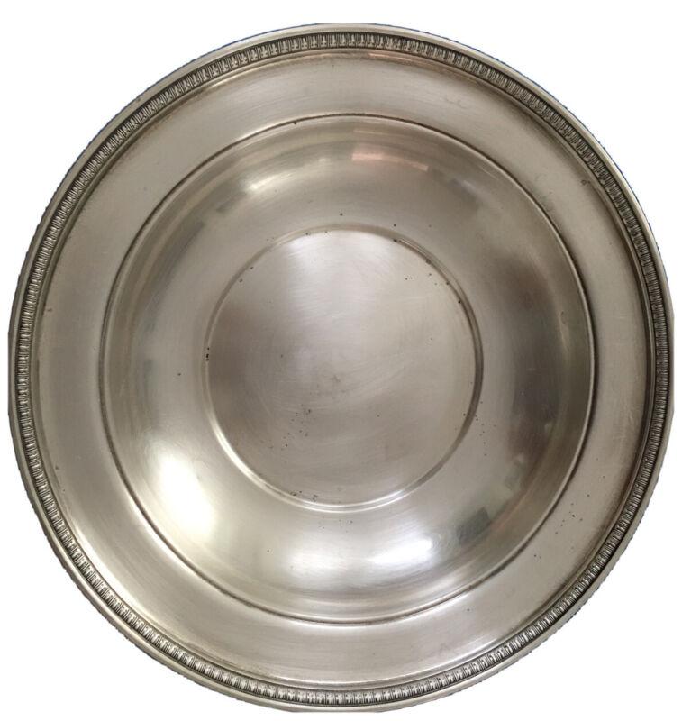 "Vintage International Sterling Solid Sterling Silver Plate, 10"" 386 Grams"