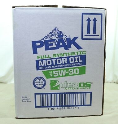 Peak Full Synthetic Motor Oil 5W-30 CASE OF 6