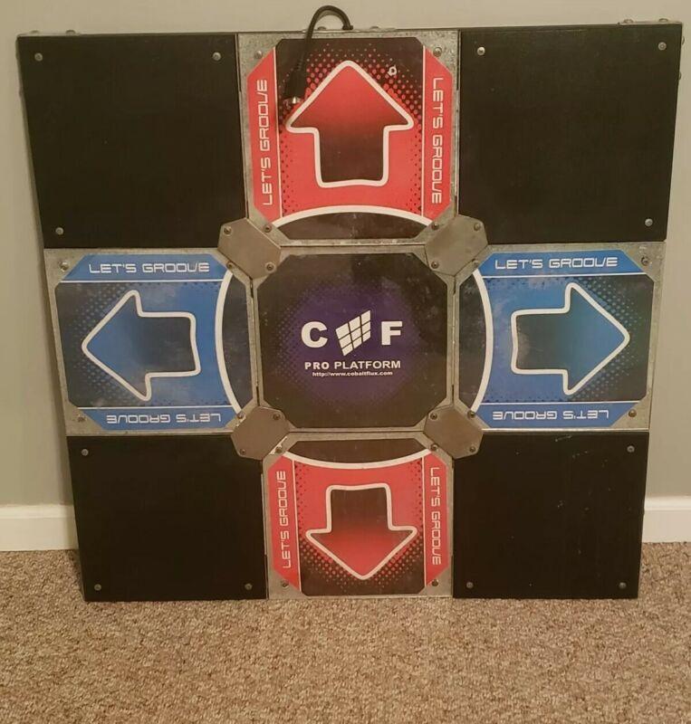Cobalt Flux Pro Arcade Style Metal Dance DDR Pad PC, PS2, Etc W/Oem Control Box!