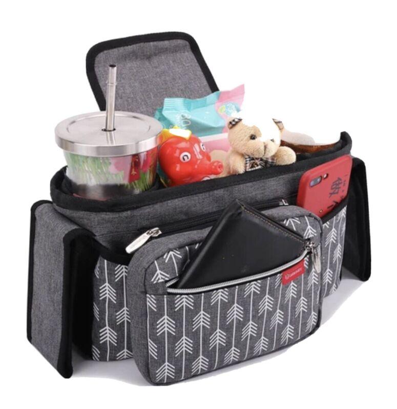 Baby Stroller Organizer Bag with Cup Holders Universal Lekebaby Stroller Organiz