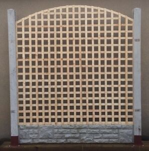 6ft X 5ft Arch Bow Top Privacy Trellis Lattice Fence Panels Raw