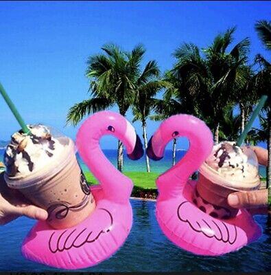 Flamingo Drink Float Cup Holder Pool Coaster Summer Floats 6pack✅3 Day Delivery](Flamingo Drink Holder)