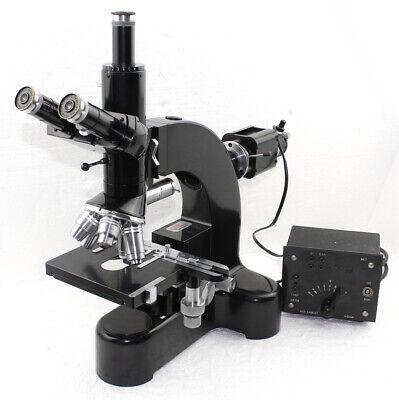 Leitz Wetzlar Ortholux Metallux Trinocular Microscope With Quintuple Turret