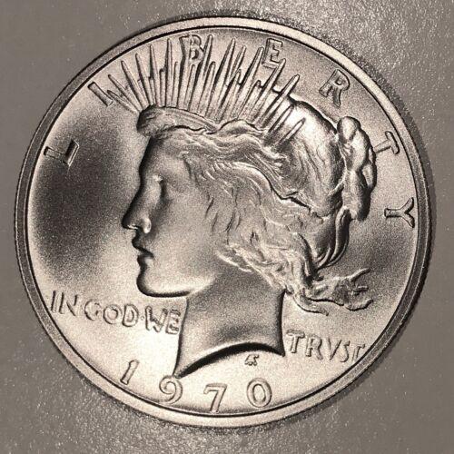1970-D Peace Dollar Overstrike 90% Silver High-Grade Dan Carr 92 Minted  /2
