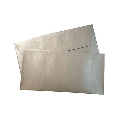 25 Rössler Paperado Silber Briefumschläge Din Lang Nassklebend DL