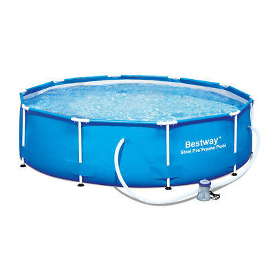 "Bestway 10' x 30"" Steel Pro Frame Above Ground Family Swimming Pool Set 