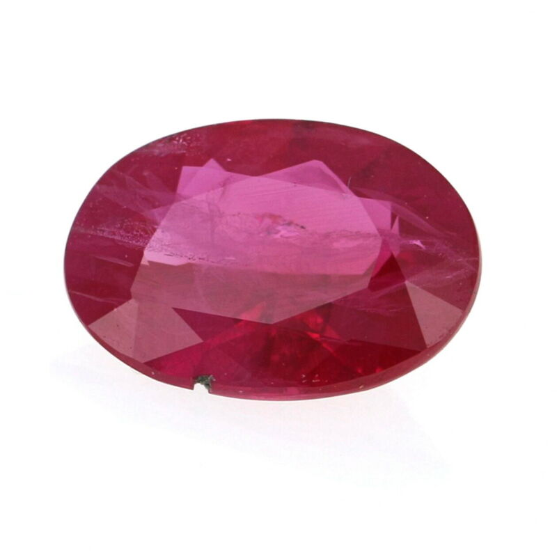 Loose Ruby - Oval Cut .72ct Red Solitaire