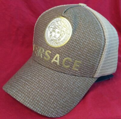 Brand New Fashion Versace Mesh Tennis Hat Outdoor Cap Medium