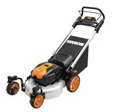 """WG771 WORX 19"""" 56V Lithium 3-in-1 Cordless Mower with Locking Caster Wheels"""