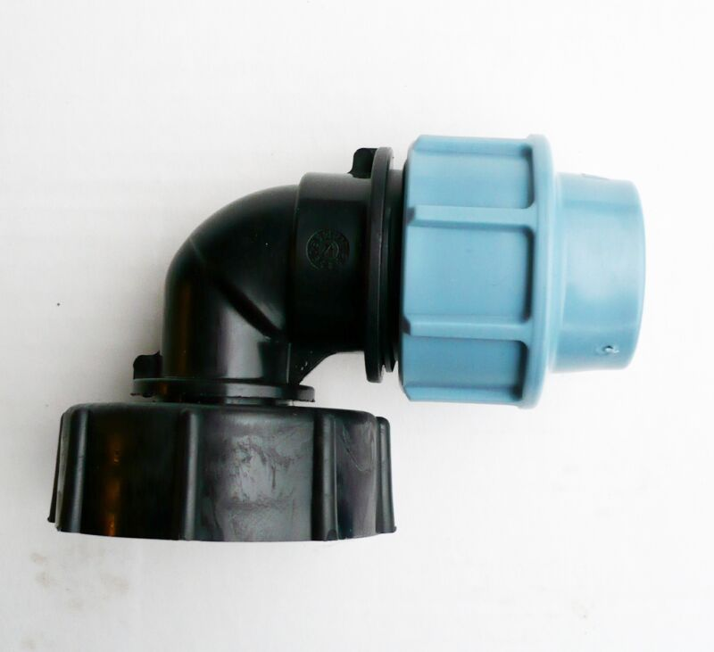 """to 25 mm Angled MDPE Compression Fitting IBC ADAPTER S60X6 2/"""" Coarse Thread"""