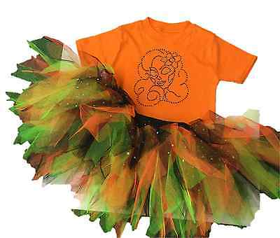 Halloween Costumes Of The 80s ( TUTU SET DAY OF THE DEAD 80s FANCY DRESS HALLOWEEN ORANGE BLACK)