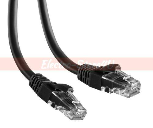 Cat6 Ethernet Patch Cable 1.5 3 5 7 10 15 20 25 30 50 75 100 200 Lot LAN Black