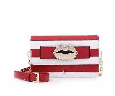 IPHORIA Micro Shoulder & Belt Bag Womens Red Stripes Lips